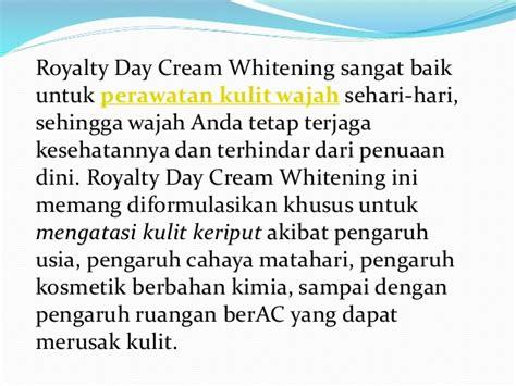 Royalty Cosmetic Day Whitening Krim Pemutih Wajah Siang Hari royalty day whitening pencerah wajah