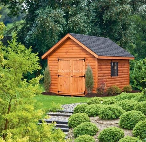 Storage Shed Cabin by Log Cabin Heritage Sheds Amish Mike Amish Sheds Amish