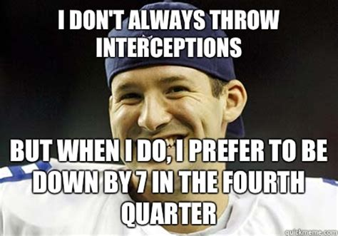 Tony Romo Interception Meme - the bear mauling cowboys mnf thread page 12 the dawg shed