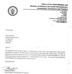 Certification Letter For Receiving Money corruption free anguilla