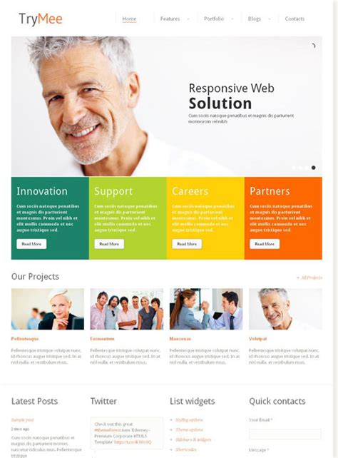 html5 templates 20 best selling html5 css3 responsive website templates on