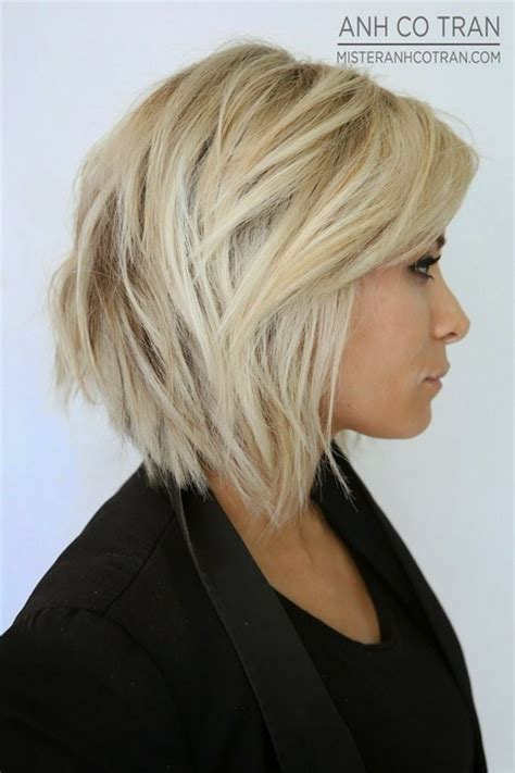 medium stacked hairstyles pictures medium length stacked haircuts