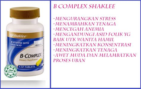 Vitamin B Complex Shaklee b complex shaklee pakar cantik