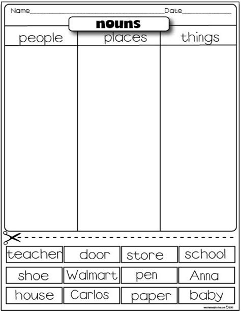 is layout a verb or noun the lesson plan diva freebies nouns english pinterest
