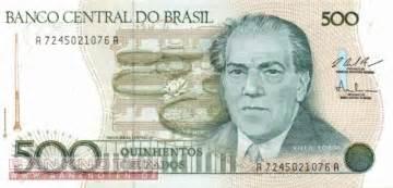 Brasil 500 Cruzados Unc banknoten de brasilien 500 cruzados 212 unc banknoten
