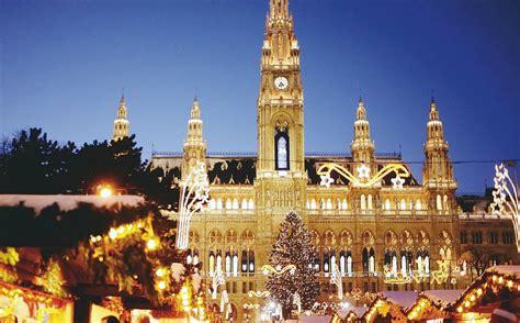 Vienna Rathausplatz In Christmas Lights Mozart S Children Vienna Lights