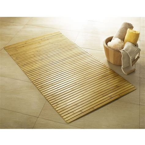 bathroom matting kleine wolke bamboo wood bath mat victorian plumbing co uk