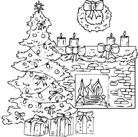 coloring page christmas fireplace christmas fireplace coloring pages happy holidays