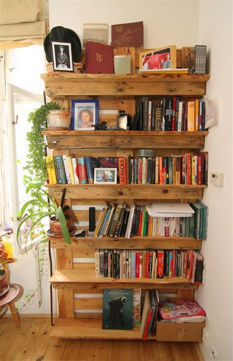 diy pallet bookshelf ideas cool pallet furniture designs