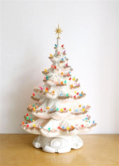 electric ceramic christmas tree with lights large vintage ceramic tree electric