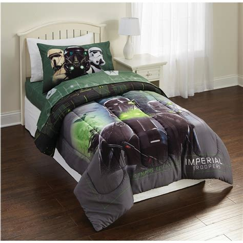 star wars bed set twin star wars rogue 1 imperial force twin comforter