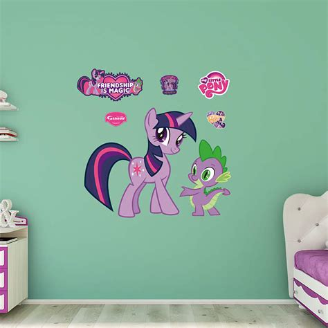 twilight sparkle bedroom twilight sparkle and spike wall decal shop fathead 174 for