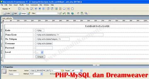 membuat website toko online dengan php dan mysql membuat web dengan dreamweaver php dan mysql contoh