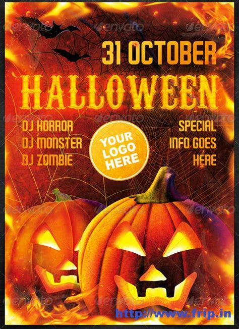 flyer templates halloween party 6 best images of halloween printable party flyers