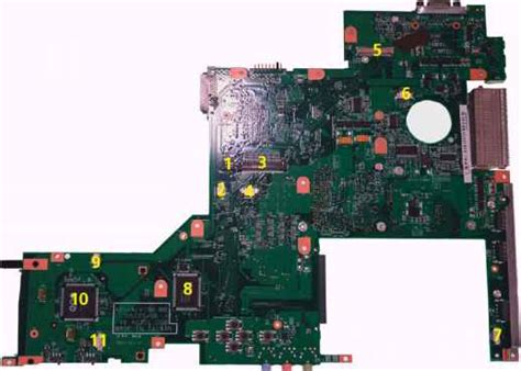 Acer Travelmate 7720g Usb Slot Port Socket Board With Cable 1 board layout top view acer travelmate 3240 3280 3290