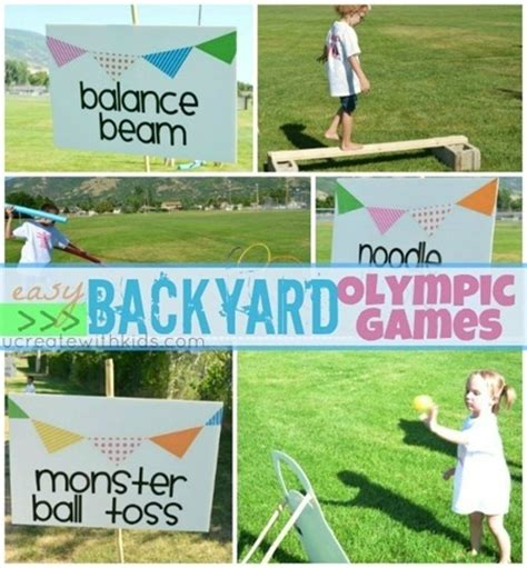 backyard olympic games for kids craftionary