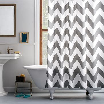 West Elm Zigzag Curtain Inspiration Zigzag Shower Curtain West Elm