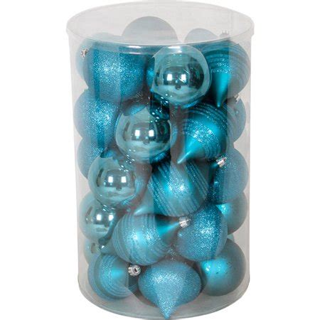 walmart ornaments pack time 35 shatterproof ornament set peacock blue walmart