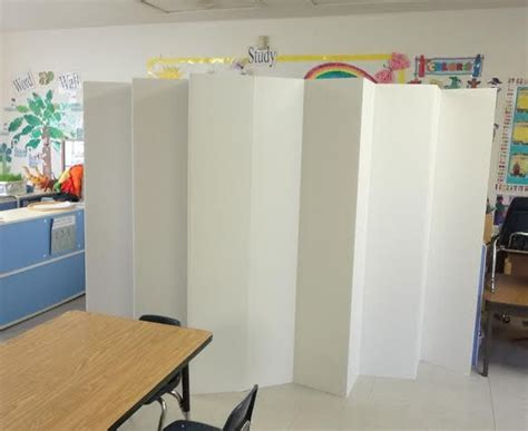 cardboard room divider 5 1 2 ft durable cardboard diy room divider student products and separate
