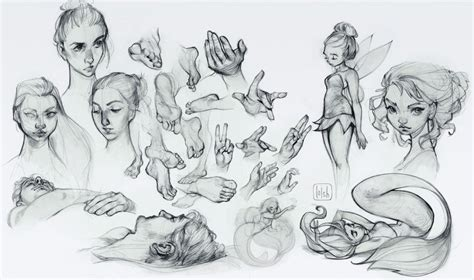 sketchbook of loish digital and process an with loish
