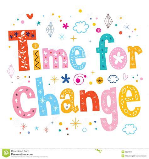 change font design online time for change typography lettering text design stock