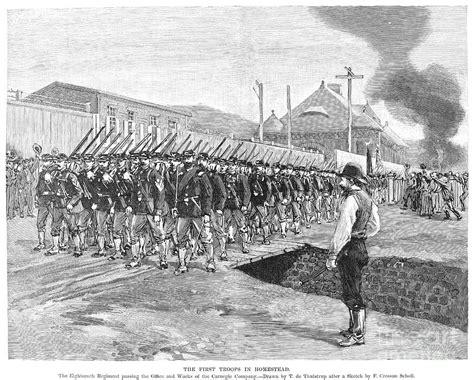 Newspaper Shower Curtain Homestead Strike 1892 Photograph By Granger
