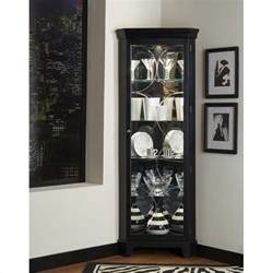 oxford black corner curio cabinet 21220