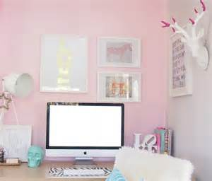 Pink Office Desk 17 Pink Office Ideas Space For Home Design And Interior