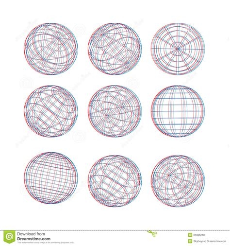sphere template illustration of 3d sphere vector template royalty free