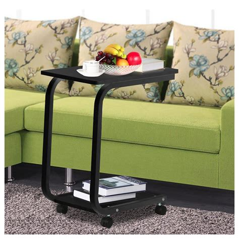 Mobile Coffee Tray Side Sofa Table Couch Room Console