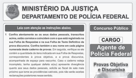 gabarito do concurso da prefeitura de ananindeua agente comunitrio de sade provas anteriores do concurso para agente de pol 237 cia federal