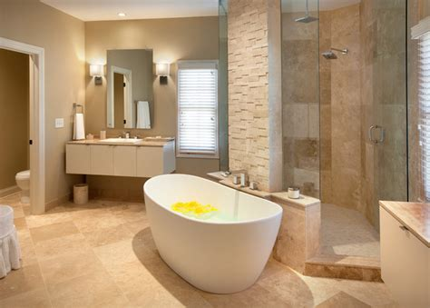 Modern Master Bathrooms Contemporary Master Bathrooms Home Garden Design