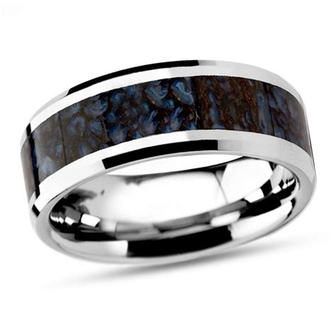 Mens Wedding Bands Dinosaur Bone