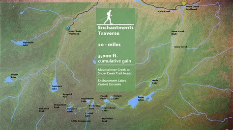 enchantments trail map the enchantments traverse 2014 best of the northwest