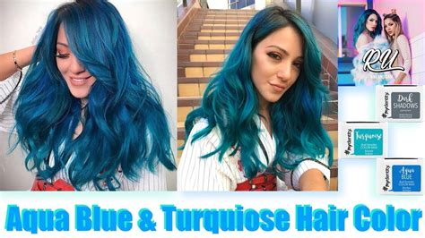 aqua hair color aqua blue turquoise hair color