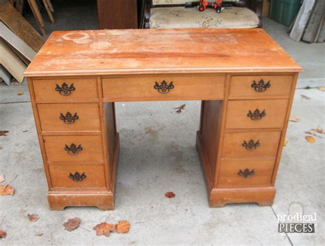 vintage desk makeover by boy prodigal pieces