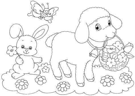 coloring pages of easter things easter basket coloring pages best coloring pages for