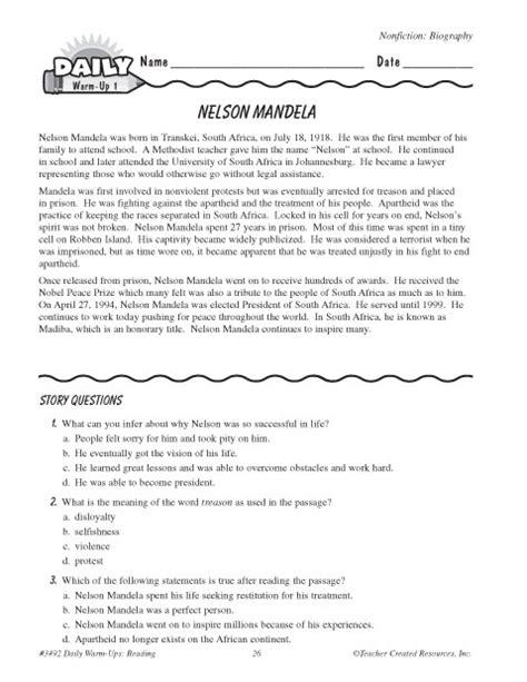 biography nelson mandela ks2 nelson mandela worksheet resultinfos