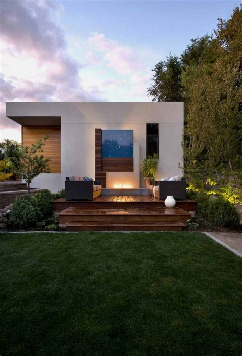 small contemporary houses modern house with big shield to give privacy shield