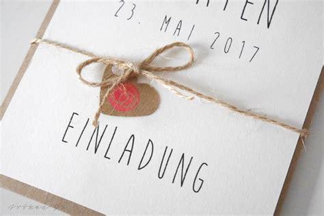 Hochzeitseinladung Einfach by Diy Einladungskarte F 252 R Eure Hochzeit
