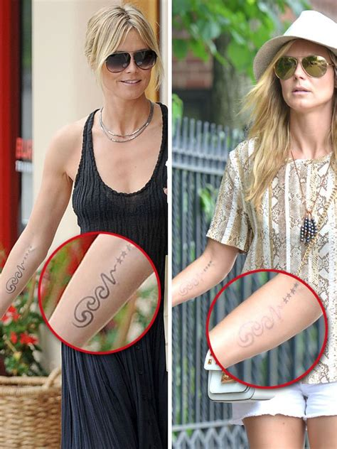 heidi klum tattoo removed top ten supermodels tattoos