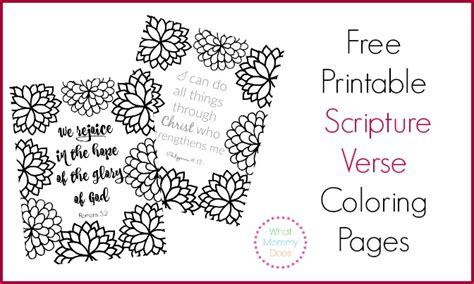 free printable scripture verse coloring pages romans faith what mommy does