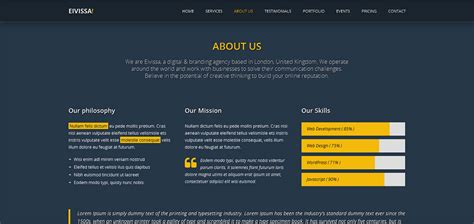 themeforest company profile eivissa responsive one page template by epic themes
