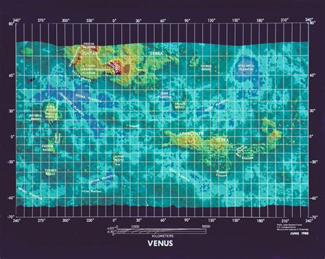 venus map large detailed topographic map of venus 1980 venus large detailed topographic map 1980