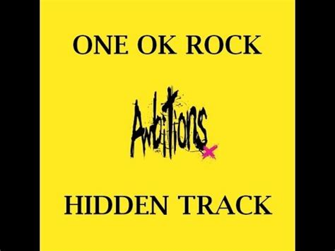 Raglan Ambitions One Ok Rock one ok rock ambitions track lyrics