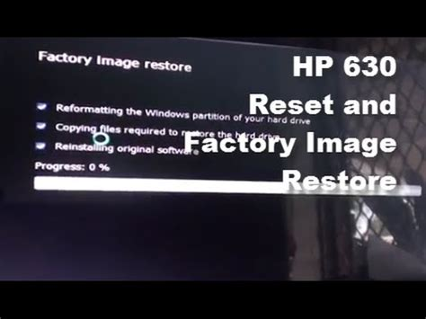 Hp Laserjet 1020 Reset Factory Settings | hp 630 how to reset restore laptop back to factory