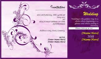 Invitation Design Templates by Professionally Design Wedding Invitation Card Template