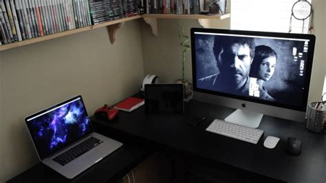 home office gaming setup my mac desk tour gaming setup home office 2013 youtube