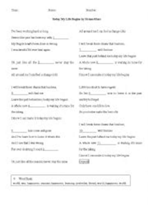 download mp3 bruno mars today my life begins english worksheets lyrics today my life begins by