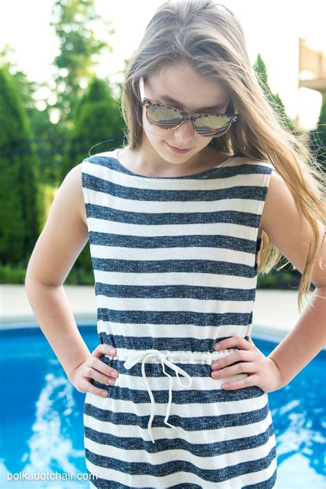 super simple swimsuit cover  sewing tutorial  polka